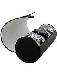 Estuche Organizador de Relojes para Viaje - Rollo de Piel sintética (marrón) - por CASE ELEGANCE