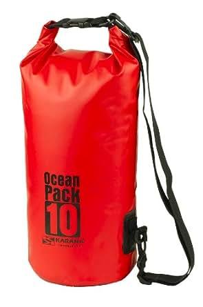 Karana Ocean Dry Pack Day Waterproof Travel Kayak Bag 10 Litre 10L Red