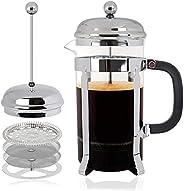ماكينة تحضير القهوة الفرنسية بالضغط من ايلونسي، ماكينة تحضير القهوة اليدوية للاسبريسو والكابتشينو وقهوة ستاربك