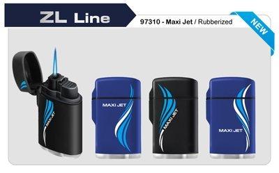 Zenga Rubber Maxi Sturmfeuerzeug, windfestes Elektronisches Feuerzeug, nachfüllbares Feuerzeug, Feuerzeug, Gas-Feuerzeug, Sturm-Feuerzeug, transparentes Feuerzeug, durchsichtig, klar, blau
