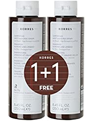 Korres Almond & Linseed Shampoo 250ml & 1 FREE