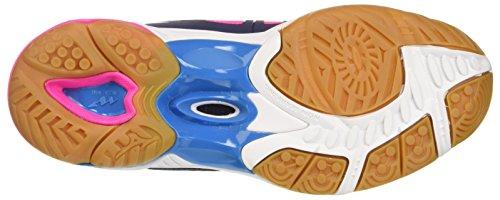 Mizuno Wave Hurricane 2 Wos, Scarpe da Pallavolo Donna Multicolore (Peacoatwhitedivablue)