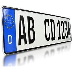 Plaque d'immatriculation personnalisable pour voiture/camion/remorque/porte-vélos, avec étui de protection pour carte d'assurance