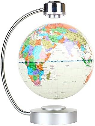 ZJchao Globe de lévitation magnétique Flottant la la la Carte du Monde pour Le Bureau et la Maison Cadeau éducatif pour Les  s (Blanc) | Bonne Réputation Over The World  5fe9e1