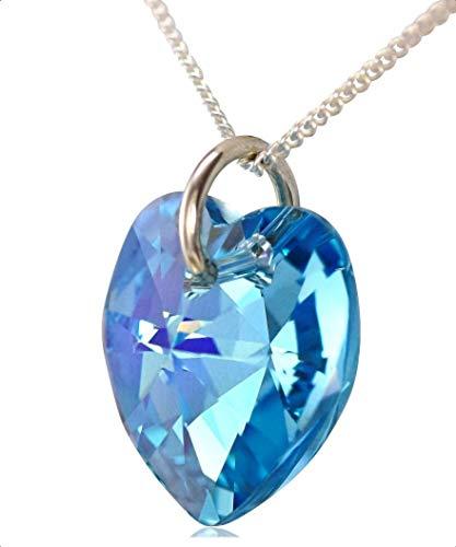 r -  925 Sterling-Silber  Sterling-Silber 925 Herzschliff   blau Aigue-marine  ()