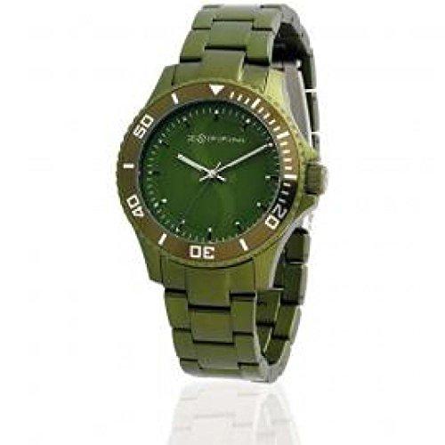Orologio Zoppini TIME V1252_0013 Al quarzo (batteria) Alluminio Quandrante Verde Cinturino Alluminio