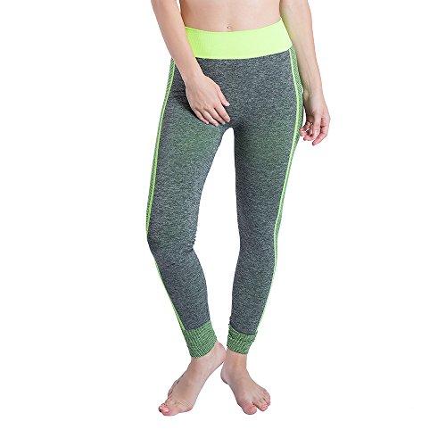 amen performance leggings weiß strumpfhose gelb schwarz gestreift (Grün 2,L (DE 38)) ()