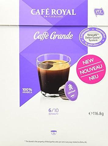 Cafe Royal Café Grande - 64 dosettes Compatibles avec le Système NESCAFE®* Dolce Gusto®* (Lot de 4X16)