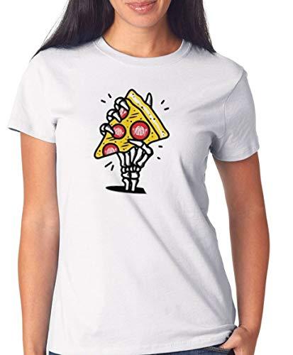 Certified Freak Pizza Hand T-Shirt Girls White S