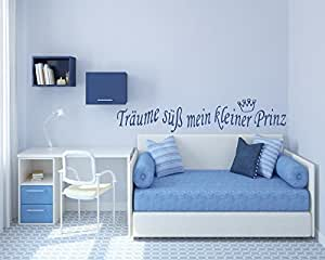 wandtattoo f r jungen kinderzimmer baby tr ume s mein kleiner prinz krone. Black Bedroom Furniture Sets. Home Design Ideas