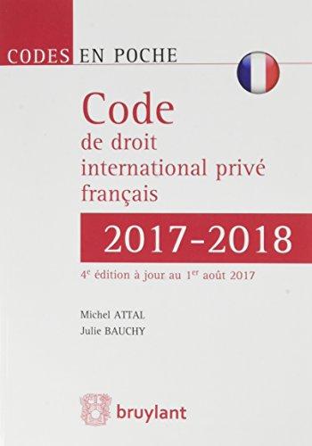 Code de droit international privé français 2017-2018