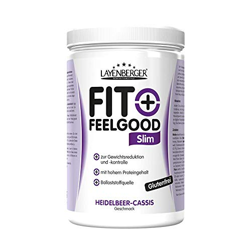 Layenberger Fit+Feelgood Slim Mahlzeitersatz Heidelbeer-Cassis, 1er Pack (1 x 430 g) - Locher Trinken