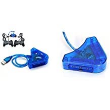 Adaptateur USB pour brancher 2 Manettes PSX PS1 PS2 Plug and Play Neuf