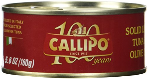 Callipo Tonno italiano in scatola in olio d'oliva da 5,6 once (confezione da 4)