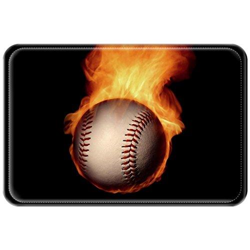 Violetpos Fußmatte Baseball Bewegung Fußmatten Mat für Innen & Außen 40 x 60 cm (Baseball-turnier)