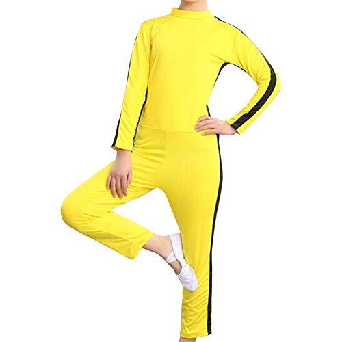 Huatime Kampfsport Bekleidung Unisex Kinder Erwachsene Overall Kung Fu - Kostüm Outfit Rollenspiel Body Anzug Kampf Film Kleidung Strampler Training Sportbekleidung ()