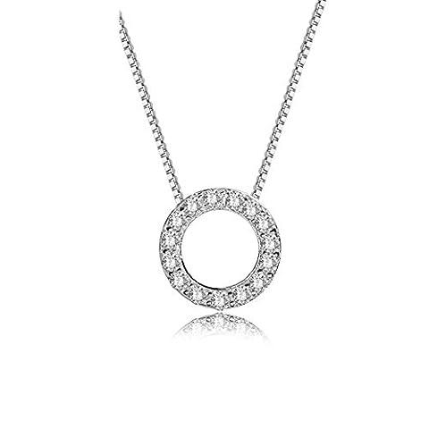 La chaîne courte clavicule Lady simple pendentif Tour de roue du collier de la Fortune-A