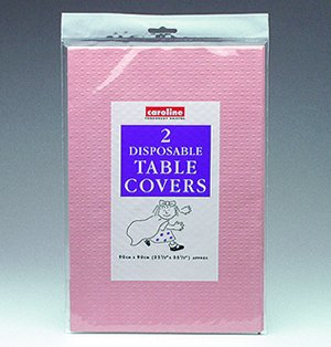 Paper Tablecover Pink for Disposable Party Tableware