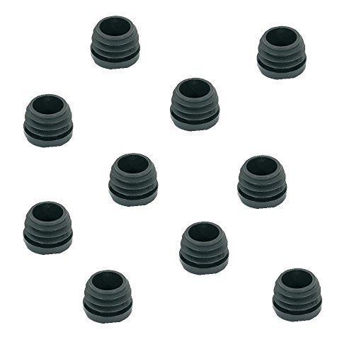 10 Stück - GedoTec PE Rohrstopfen Fußkappen schwarz aus Kunststoff für Rundrohr | Formrohr-Stopfen rund | Lamellenstopfen Ø 20 mm | Markenqualität für Ihren Wohnbereich
