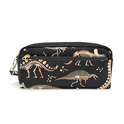 ahomy Dinosaurier Skelett Bleistift Pen Fällen Doppelreißverschluss Große Make-up Kosmetik Stationery Tasche für Tasche für Mädchen jungen Frauen