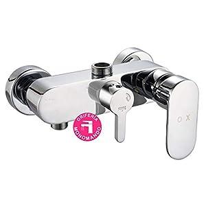 Grifo monomando CAN/VER compatible con la gran mayoría de columnas de ducha. Desviador integrado para cambiar de posición de ducha a rociador. Repuestos originales garantizados
