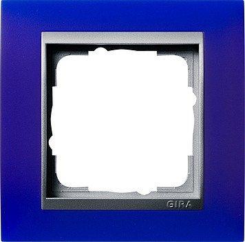 GIRA 021193 Mascherina di copertura 1 modulo per color alluminio Event Opak blu