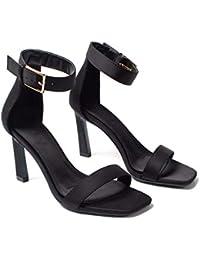 KPHY Scarpe da Donna Estate Scarpe da Donna Gatto E 8Cm Cintura Scarpe con  Tacchi Alti Magri Tacco Punta I… 68eae828fee