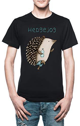 Hedgejog Herren T-Shirt Schwarz - Hogs Out T-shirt