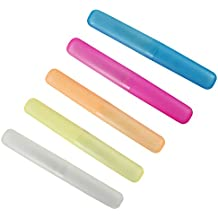 com-four® 5X Cepillo de Dientes, Caja de Transporte y Almacenamiento para cepillos