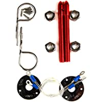 supeedmotor parti per Hot Universale Racing Pins Lucchetto Kit cromata cofano/cappuccio/Deck
