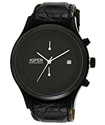 (CERTIFIED REFURBISHED) Aspen Core Classic M Chronograph Black Dial Mens Watch - AM0015
