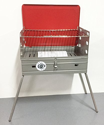 BARBECUE FORNACELLA A CARBONE FORNACELLA A CARBONE MOD PIC NIC CHIUSURA A VALIGIA MADE IN ITALY