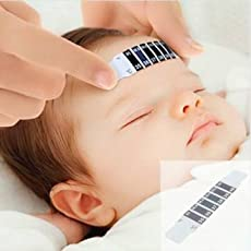 Forehead 10Pcs Baby Kids Strip Stickers Thermometer Body Oxter Strip Fever Safety Healthy Temperature Test