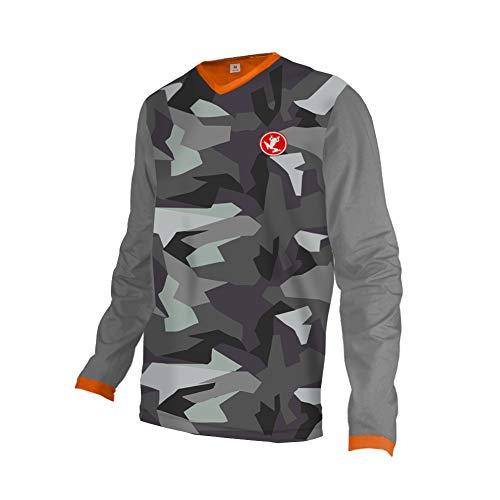 Uglyfrog 2019-2020 Rennrad Jersey Mountain Bike Motocross Downhill Enduro Cross Motorrad MTB Shirt Herren Long Sleeve Thermal MTB Winter Downhill Jersey DownKZR01 -