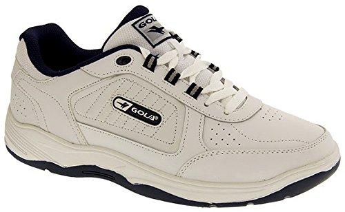 Gola Chaussures De Sport À Lacets Soupe Large EE Cuir pour Hommes Blanc