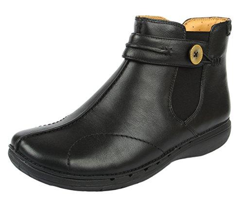 Clarks, Un Libby, 20351520, Damen-Knöchelstiefel, schwarz, Schwarz