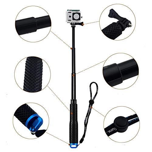 48,3cm/91,4cm étanche Poignée réglable Extension Selfie Stick Monopode pour GoPro Hero 76543+ 321, Xiaomi Yi et d'autres caméras d'action (Bleu)