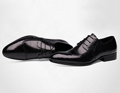 Scarpe Uomo in Pelle Scarpe da uomo in pelle da allenamento formale Scarpe da sposa a punta in pizzo stile britannico nero ( Colore : Nero , dimensioni : EU43/UK8 ) Nero