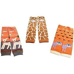 Calentadores para niñas en pack de 3, set de regalo Multis Talla única