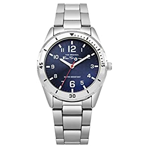 Ben Sherman Jungen Analog Quarz Uhr mit Edelstahl Armband BSK002USM G