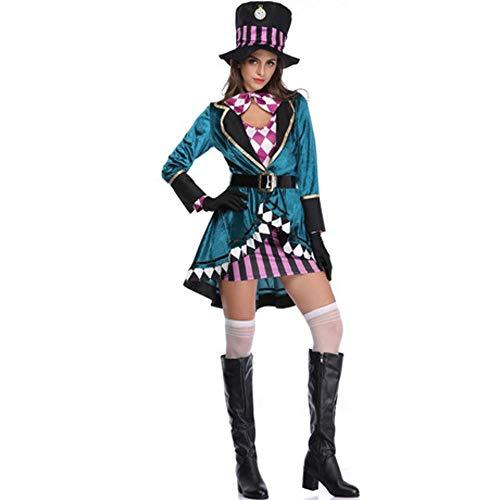 Circlefly Halloween Alice Mad Hat Erwachsene Frauen Magier Performance Kostüm Nachtclub Animal Trainer Bühnenkostüm