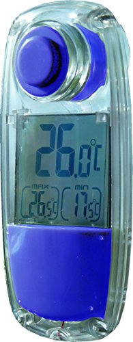 PowerPlus Parrot Solar Indoor Outdoor Thermometer, Acryl, Blau