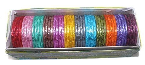Beadsnfashion Plastic Multi Colourful Bangles For Girls/Women, Full Box 48 Pcs