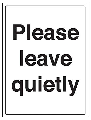 vsafety 72015bc-r Bitte hinterlassen Sie leise Allgemeine Informationen-Zeichen, starrer Kunststoff, Porträt, 300mm x 400mm, schwarz
