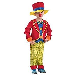 Carnival Toys-Disfraz payaso para bebé unisex-child, multicolor, 98-104cm, 68130