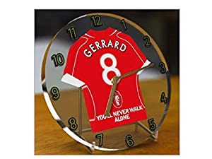 Steven Gerrard - Liverpool Fc Football Shirt Clock - Football Legends Limited Edition from FanPlastic