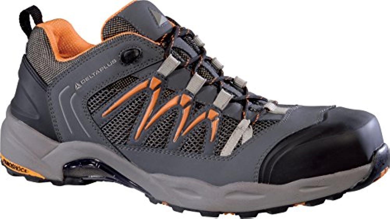 Delta Plus Schuhe  Schuh Nubukleder + Mesh 3d grau/orange Gr. 43