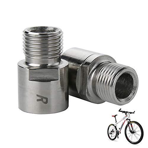 1 Paar Fahrrad Pedal Extender, Fahrrad Pedal Distanz-Verlängerung, 9/16 Zoll verlängertes Fußpedal, Fahrrad Pedal Verlängerung Schraube Fahrrad Teil Lager Zubehör, silber
