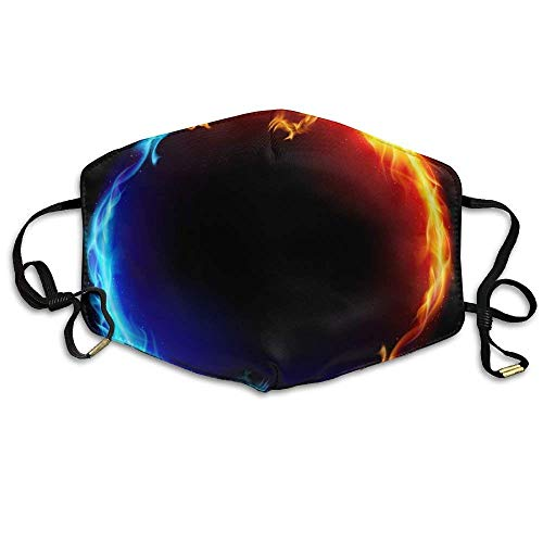 China Yin Yang Fire Water Dragons Anti Dust Breathable Face Mouth Mask for Man Woman -