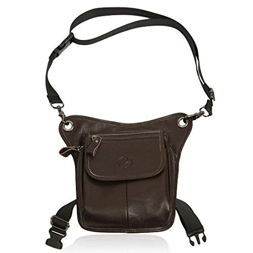 e-Holster Tasche aus echtem Leder, mit Tasche für iPad Mini und Schulterriemen Braun braun One Size -